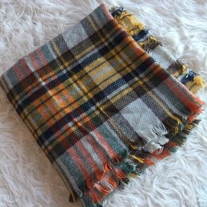 Accessories - Large blanket scarf, soft cozy plaid
